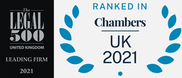 Chambers Ranking and Legal 500 2021 logos